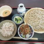 73675876 - 「そばとむぎトロご飯のセット」(¥950)