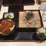 明治亭 - ざるそば&ミニソースひれカツ丼