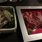 73676915 - 京都丹波和牛コラーゲンテールスープしゃぶしゃぶ 霜降り肉(2,500円)
