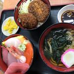 勘太そば - コロッケ満腹セット850円