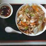 大黒屋 - 五目あんかけやきそば(スープ付き):1050円(税込)