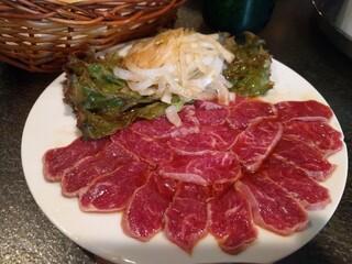 Bistro ひつじや - 羊のレアステーキ〜。スモールサイズ