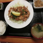 湯花楽北本店 お食事処 - 料理写真:油淋鶏780円