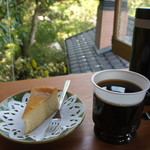 たぶの木 - チーズケーキセット