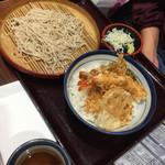 天丼てんや シャポー本八幡店 - 小天丼と小そばセット(^∇^)