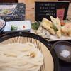 Udonsansaishioya - 料理写真:天ざるうどんとサービスのライス