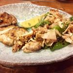 73689204 - 薩摩地鶏と旬野菜の炙り焼き