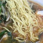 永新 - 麺は硬めオーダー、鶏も秀逸!