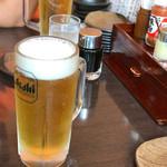 てんから - 生ビールで乾杯♪