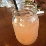 夕日カフェ - アフタードリンクにグレープフルーツジュース
