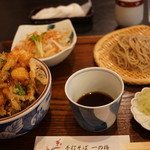 手打そば 一の梅 - 料理写真:かき揚げ丼セット 1080円