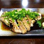 骨付鶏 ひろ - 讃岐地鶏のたたき:700円(移転前)