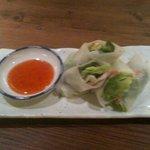 野菜バーる31 - アボガドと海老の生春巻き