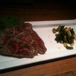 野菜バーる31 - 牛肉のたたき