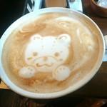 Cafe LINQ Takasegawa - 可愛いラテアート。