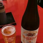 とんかつ甲斐路 - 瓶ビール 550円