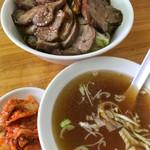 自由軒 - 【2017.9.14】天津チャーハンにはスープとキムチも付きます。