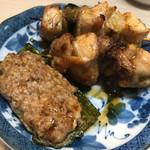 江戸政 - ピーマン肉詰め、焼鳥 、ハートスタミナ