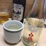 江戸政 - ビールチェイサーに熱燗