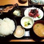 旬菜魚や 棗 - 旬菜魚や 棗 @八丁堀 ミニセット 赤魚粕漬焼定食 850円
