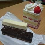 大野屋菓子店 - イチゴショート・ベイクドチーズ・ベイクドショコラ(500円)  ※スイーツパスポート使用