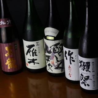 希少銘柄各種あり◎厳選した日本酒は料理とも相性抜群