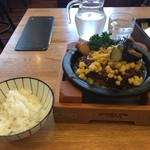 つばめグリル - 夏野菜の和風ハンブルグステーキご飯セット