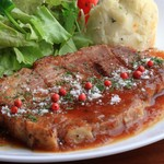 おやさいバル TIERRA KAKUREGA - アボ豚肩ロース肉のローストポーク
