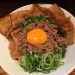 台湾まぜそば 麺屋 イッショウ - 台湾まぜそば(^_^*) with 炙りチャーシュー