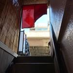 Ichijiku - 地下からの階段から外を見る(2017.3.21)