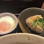 73718508 - 鴨汁つけ麺のトッピング
