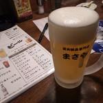まさや 阪急小林店 - 生ビール
