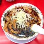 ラーメン魁力屋 - 料理写真:京都漆黒醤油ラーメン(大)896円