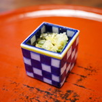 草喰 なかひがし - ミズ、和栗、モロヘイヤ、豆腐クルトン