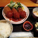 恩 - 蟹クリームコロッケ定食