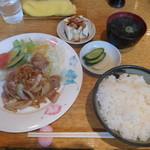 ベルモント - 料理写真:ポークショーガ焼き定食¥820-