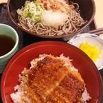 うまか亭 - 福井セット ソースカツ丼とおろしそばがセットで税込690円、勿論、ミニサイズではありません、これは安い!