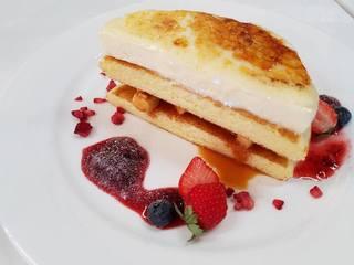 カフェ デ オラ - 「クリームブリュレ パンケーキ」