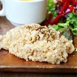 チャヤマクロビ - ふっくら美味しい玄米ごはん デリがお芋のサラダではなく玄米ごはんに合うデリが良かったかな
