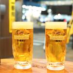 鶴亀八番 - ☆生ビール 190円