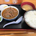 永井食堂 - 【2017.9.20】もつ煮定食¥590