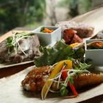 幡・INOUE - 秋のからだ想いランチのメイン料理 魚or肉