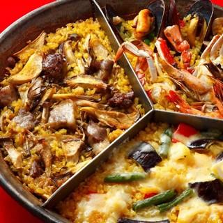 一つの鍋でたくさんの味を!みんなで楽しめる「マルチパエリア」