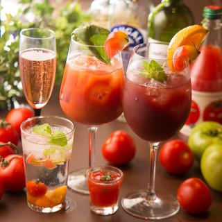 女性にもうれしい!トマトやフルーツで美味しいカクテル
