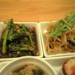 7374261 - 青菜の醤油キムチとモヤシと切干大根の金平