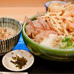 うどん ゆきの - かき揚げおろし定食1000円