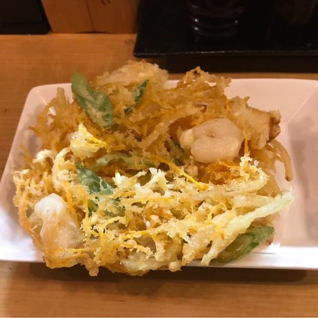 十割蕎麦 千花庵 関内店 - かき揚げ。 美味し。