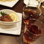新中国料理 HARAKAWA - ホタルイカ紹興酒漬け と 紹興貴酒 陳年15年 茶壷