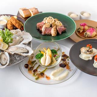 オイスタバーの牡蠣宴コース