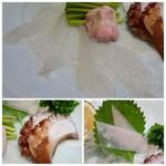 博多和食 いしくら - *カワハギ・肝のせ・・肝の味わいもよく美味しいこと。 *烏賊の耳 *蛸 など。